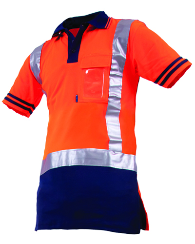 Qwikdri day night polo work outfitters for Hi vis polo shirts with pocket